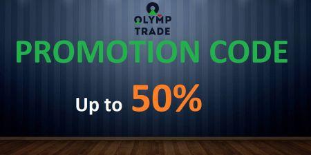 Code promotionnel Olymp Trade - Jusqu'à 50% de bonus