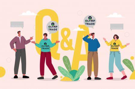Foire aux questions (FAQ) du compte, plateforme de trading dans Olymp Trade