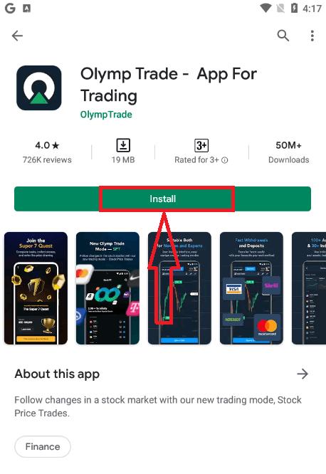 Comment se connecter et déposer de l'argent dans Olymp Trade