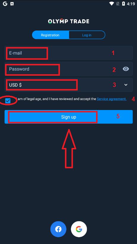 Comment enregistrer et vérifier un compte dans Olymp Trade