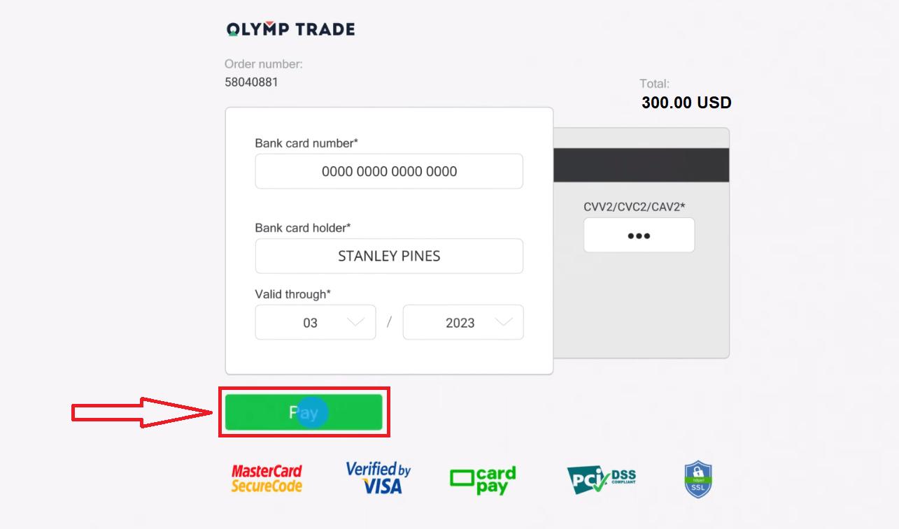Comment retirer et faire un dépôt d'argent dans Olymp Trade